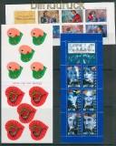 Frankreich 3 verschiedene MH und Folienblätter postfrisch (27001)