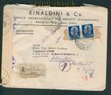Italien Auslands-Einschreibe-Zensur-Brief Genova 1944 (27026)