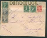 Argentinien GSU U 12 Dreifarbenfrankatur 1893 (27093)