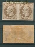 Hannover Mi # 19 waagerechtes Paar ungebraucht (26967)