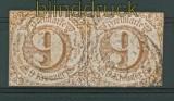 Thurn + Taxis Mi # 34 II waagerechtes Paar gestempelt (26972)