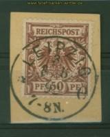 dt. Reich Mi # 50 I gestempelt Briefstück (26823)