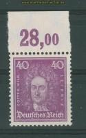 dt. Reich Mi # 395 Oberrand Plattendurck postfrisch (26844)