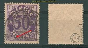 dt. Reich Dienst Mi # 21 I gestempelt gepr. Infla (26880)