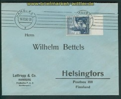 dt. Reich Mi # 682 Auslands-Brief portoberecht Hamburg 1938 (26905)