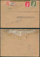 dt. Reich Mi # 794 + 827 Sternberg Ostsudeten 1943 (26916)
