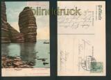 Helgoland farb-AK Mönch und Predigerstuhl 1909 (d5175)