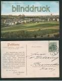 Erfurt farb-AK Panorama mit Stürke´s Villa 1907 (d5180)