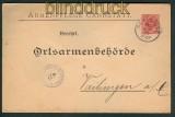 Württemberg Dienstumschlag Privat?? Armenpflege Cannstatt 1897 (27112)