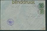 Württemberg Dienstumschlag DU 6 b gestempelt Blinddruck 1897 (27113)