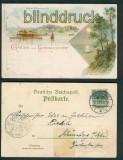 Heringsdorf farb-Litho-AK Kaiser-Wilhelmbrücke 1897 (d5263)