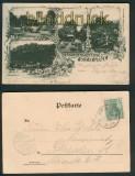 Bergrestauration Nonnenfelsen sw-AK 4 Ansichten 1902 (d5359)