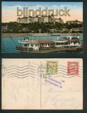 Budapest farb-AK Königl. Burg Királyi vár Zensur 1921 (a0893)