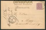 dt. Reich GSK nachverwendeter Preussen-Stempel WOLLIN in Pommern 1875 (27323)