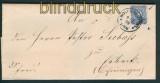 dt. Reich Fernbrief Klaucke-Stempel WOLFENBÜTTEL 1889 (27332)