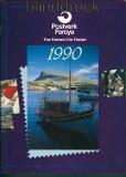 Dänemark Faröer Jahrbuch 1990 mit postfrischen Marken (27649)