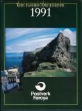Dänemark Faröer Jahrbuch 1991 mit postfrischen Marken (27650)