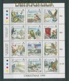 Guernsey Mi # 501/12 postfrischer Kleinbogen Vögel (27633)