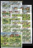 Tadschikistan Mi # 50/57 Kleinbogensatz und Zdr.-Bogen gestempelt (28926)