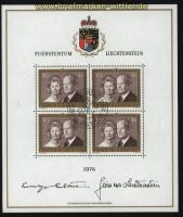 Liechtenstein Mi # 614 Kleinbogen gestempelt (28940)