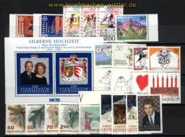 Liechtenstein Jahrgang 1992 komplett postfrisch (28955)