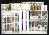 Liechtenstein Jahrgang 1986 komplett als 4er-Blöcke gestempelt SSt. (28965)