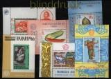 Indonesien 5 postfrische und ein gestempelter Block (29036)