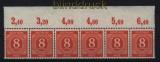 all. Besetzung Mi # 917 Oberrand Platte waagerechter 6er-Streifen postfrisch (29133)