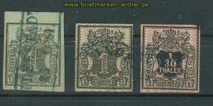 Hannover drei gestempelte Marken Mi # 2, 9 und 10 a  (27780)