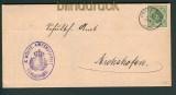 Württemberg Mi # D 103 a Zweikreisstempel Creglingen 1892 (27784)