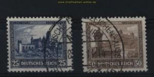 dt. Reich Mi # 452 und 453 gestempelt Nothilfe 1930 (27863)
