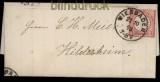 Deutsches Reich Mi # 19 L 14 EF Wiesbaden 22.10.1873 nach Hildesheim (27895)