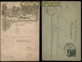 Ansichtskarten-Vorläufer Prinz-Georg-Thurm auf dem Ungerberg Bahnpost 1890 (29224)