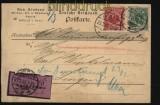 Deutsches Reich Mi # 46 und 47 auf Nachnahme-Postkarte Melle 1900 (27914)
