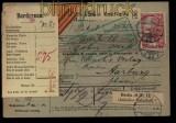 Deutsches Reich Mi # 94 A I EF Auslands-Paketkarte Berlin 1908 (27927)
