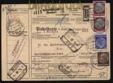 Deutsches Reich Auslands-Paketkarte Schwenningen 1937 nach Belgien (27954)