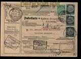 Deutsches Reich Auslands-Paketkarte Teningen 1937 nach Belgien (27961)