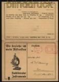 Deutsches Reich Firmendruchsache Doppelkarte mit Freistempler Motiv Mikroskop (27985)