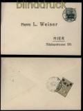 Deutsches Reich Post in Polen Mi # 2 Ortsbrief mit Lokalpost Warschau Mi # 10 (29259)