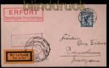 Deutsches Reich Mi # 380 auf Luftpostbrief Erfurt 1927 (29265)