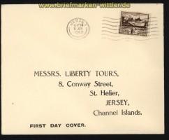 dt. Reich Besetz. 2. WK Jersey Mi # 5 auf FDC Ersttagsbrief (29280)