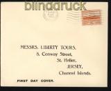 dt. Reich Besetz. 2. WK Jersey Mi # 6 auf FDC Ersttagsbrief (29281)