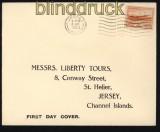 dt. Reich Besetz. 2. WK Jersey Mi # 6 auf FDC Ersttagsbrief (29282)