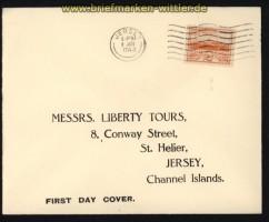 dt. Reich Besetz. 2. WK Jersey Mi # 6 auf FDC Ersttagsbrief (29283)