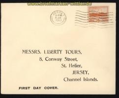dt. Reich Besetz. 2. WK Jersey Mi # 6 auf FDC Ersttagsbrief (29284)