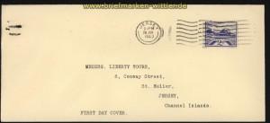 dt. Reich Besetz. 2. WK Jersey Mi # 7 auf FDC Ersttagsbrief (29286)