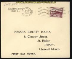 dt. Reich Besetz. 2. WK Jersey Mi # 8 auf FDC Ersttagsbrief (29288)