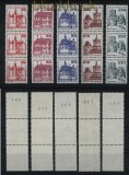 Berlin 5 verschiedene 3er-Streifen mit Nummer Burgen & Schlösser (28098)