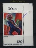 Bund Mi #  823 III postfrisch Kirchner Plattenfehler Strich am Rand (28163)