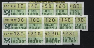 Bund ATM 1981 Mi # 1 Versandstellensatz 1 postfrisch (28228)